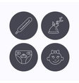 Thermometer diapers and sleep hat icons vector image