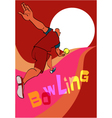 Bowling poster template vector image