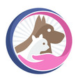 business logo icon for pet shop pet care vector image