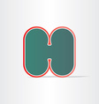 letter h green icon design vector image