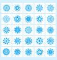 set of 25 hand drawing christmas snowflakes vector image