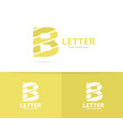 unique letter b logo design template vector image