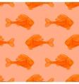 Seamless Orange Fish Pattern vector image vector image