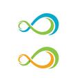 Infinity logo template vector image