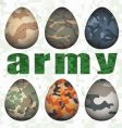 army eggs vector image