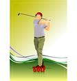 al 0612 golfer 04 vector image vector image