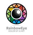 Abstract Logo Rainbow Eye Circle Eyeball Symbol vector image