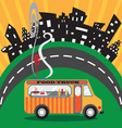 Gastro food truck vector image