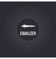 Pulse Music Equalizer Background Audio vector image