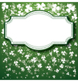 St Patricks Day Background with frame lights vector image