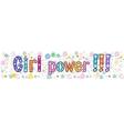 Girl power Greeting Banner vector image