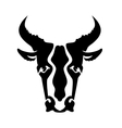 Bull Head Silhouette vector image