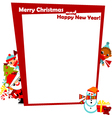 christmas frame with kids vector image