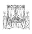 Hand made vecor sketch of cozy interior elements vector image