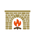 Home fireplace vector image