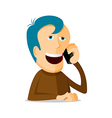 Man on the phone vector image