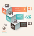 Modern infographics communication technology vector image