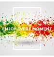 Motivation bright Paint Splashes vector image
