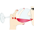 Tasting red wine vector image