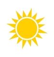 yellow sun icon vector image