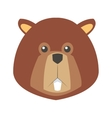 single beaver icon vector image