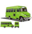 city mini bus vector image vector image
