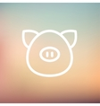 Pig face thin line icon vector image vector image