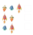 Educational game for children draw missing rocket vector image