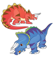 triceratops vector image