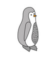chistmas penguin standing cute animal vector image