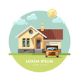 House facade Traditional cottage vector image