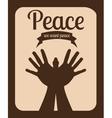 message og peace design vector image