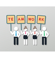 positive thinking teamwork business concept vector image