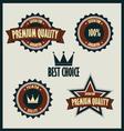 Premium quality labels best choice vector image