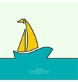 Sailboat sailing in the sea vector image