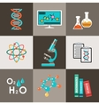 Science set Infographic vector image