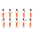 set of chief-cooker characters vector image