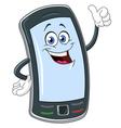 smart phone cartoon vector image