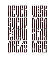 The latin stylization of Old slavic font vector image