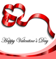 Valentine frame with ribbon heart vector image