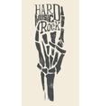 Skeleton hands Rock T-shirts for vector image