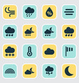 weather icons set collection of snowy colors vector image