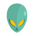 cartoon flat alien head isolated on white vector image