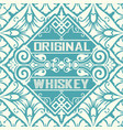 old whiskey label and vintage wallpaper vector image vector image