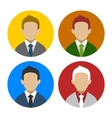 Colorful Businessman Userpics Icons Set in Flat vector image vector image