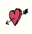 heart arrow vector image vector image