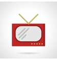 Red retro TV flat color design icon vector image