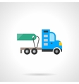 Truck tractor for sale flat color icon vector image