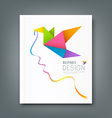 Cover Magazine colorful origami birds vector image