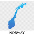 norway map in europe continent design vector image